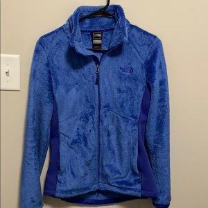 Blue North Face fleece jacket